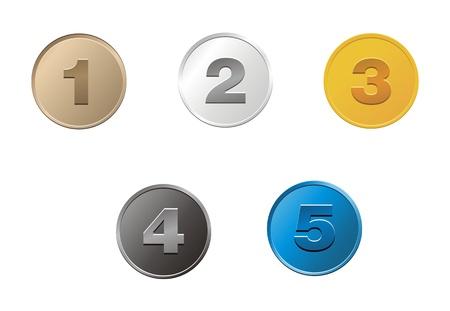 1,2,3,4,5 コイン