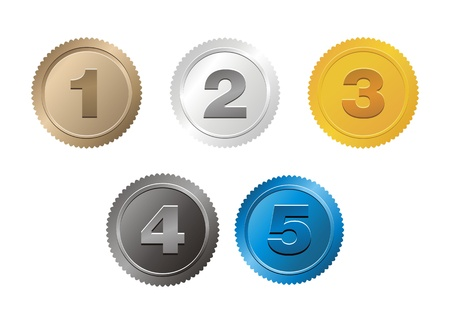 4 5: set of 1,2,3,4,5 badge