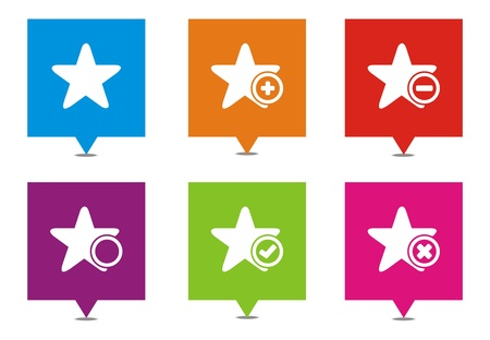windows 8: star square pointers Illustration