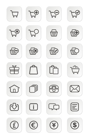 ecommerce icon sets Vector