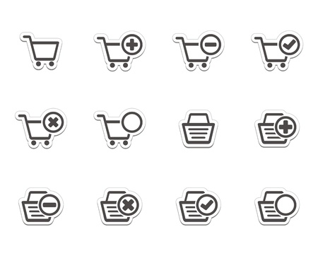 ecommerce icons stickers Vector