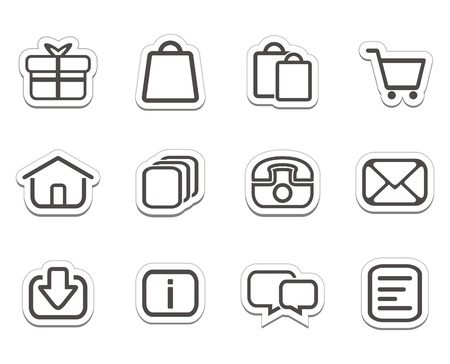 online shop stickers - icons Vector