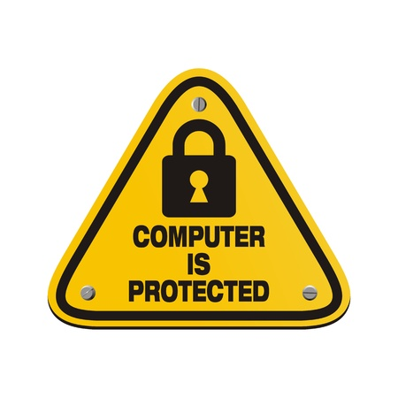 computer is protected - triangle signs Vector