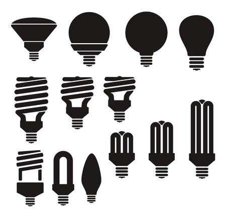 risparmio energetico: lampadina a risparmio energetico Vettoriali