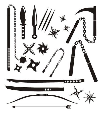 assassin: ninja weapon sets