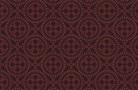 dark brown batik pattern Vector