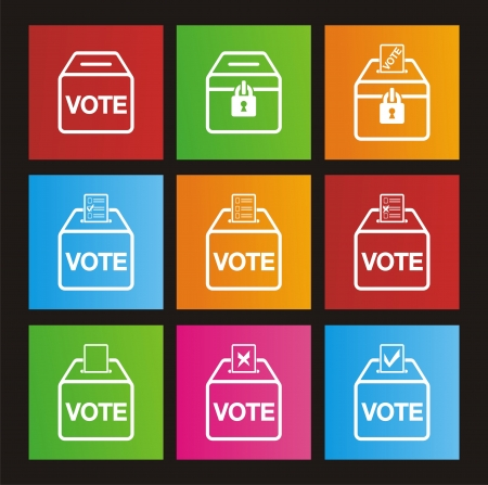 election metro style icons Stock Vector - 20823492