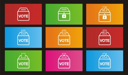 election icons - metro style icons Stock Vector - 20823493