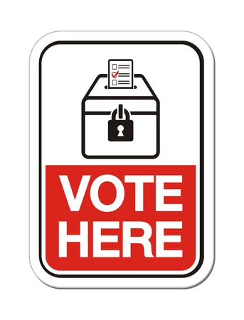 vote here - polling place sign Vector