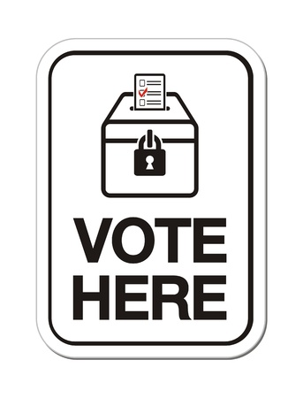 political rally: голосовать здесь признаки