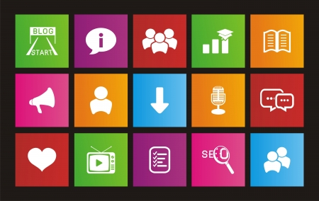 chat window: blog metro style icons