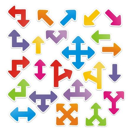 indexes: arrow stickers vector