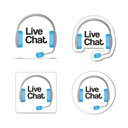 chat icon: live chat