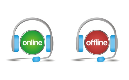 online offline chat, support, help icon Stock Vector - 21311055
