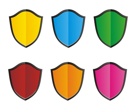 colorful shield Stock Vector - 21311020