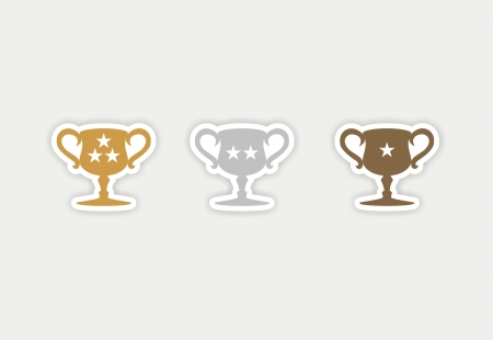 trophy sticker Vector