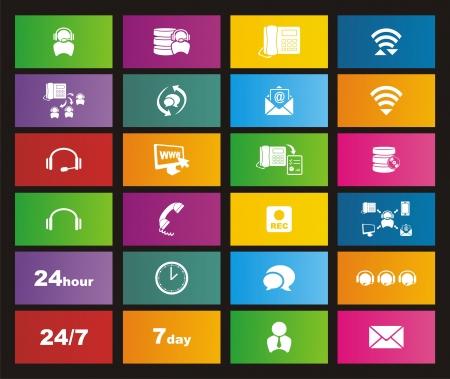 predictive: call center icona di stile della metropolitana