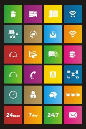 call center metro style icon sets