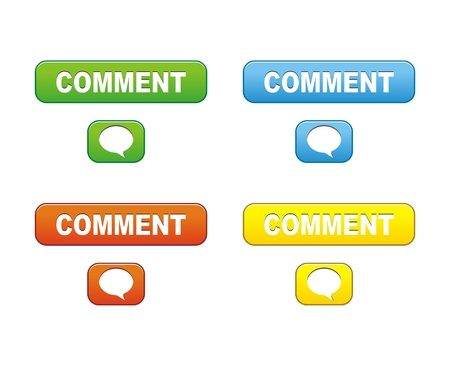 comment buttons Vector