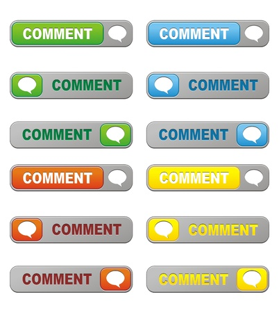 set of comment button Stock Vector - 21311012