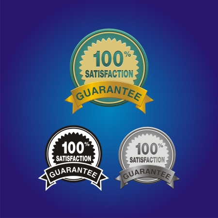 100 percent satisfaction badge Stock Vector - 21317078