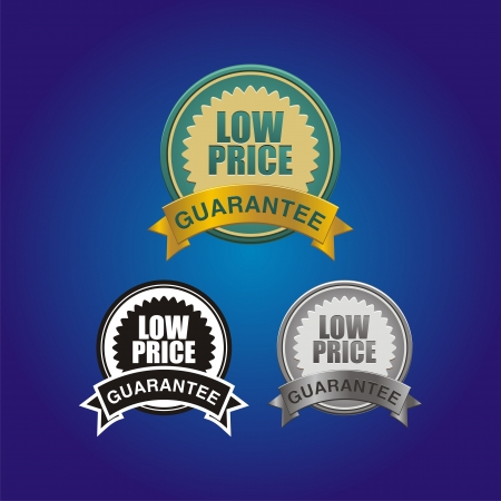low prices: low price guarantee badge
