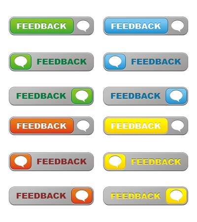 feedback sticker: feedback buttons Illustration