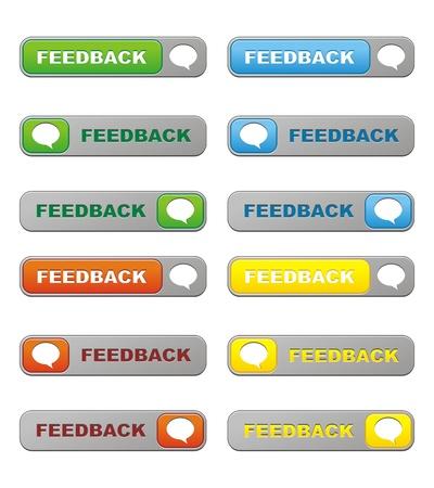 feedback buttons Stock Vector - 21317109