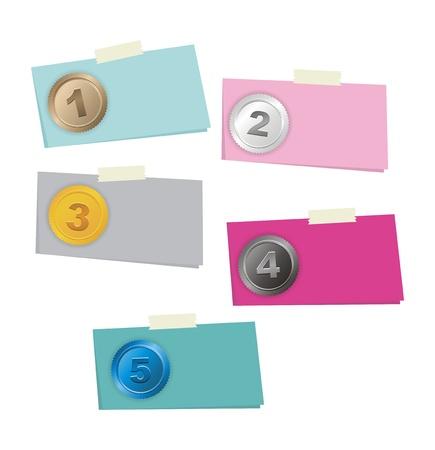 3 4: 1, 2, 3, 4, 5 step - option number