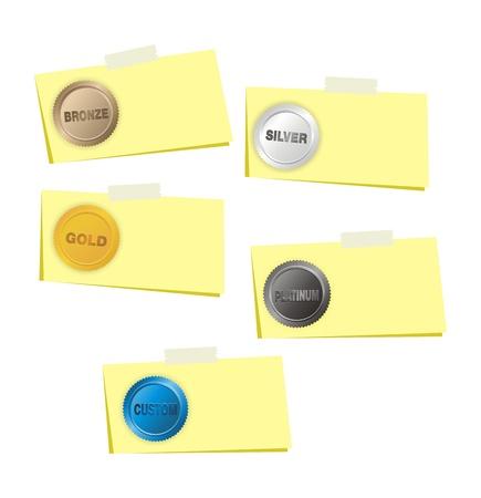 platin: Gold, Silber, Platin, Bronze, benutzerdefinierte Schritt