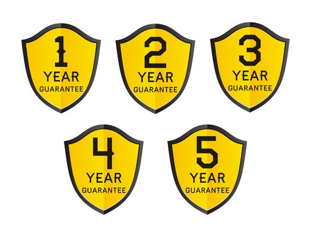1,2,3,4,5 year guarantee Stock Vector - 21599368