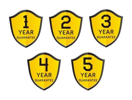 4 5: 1,2,3,4,5 year guarantee Illustration