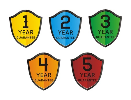 4 5: colorful 1,2,3,4,5 year guarantee