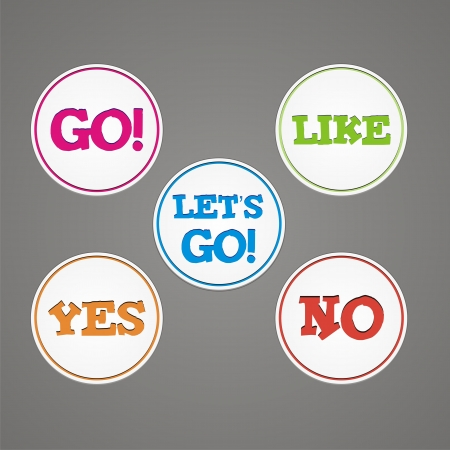 go to store: go, like, yes, no, lets go sticker badge