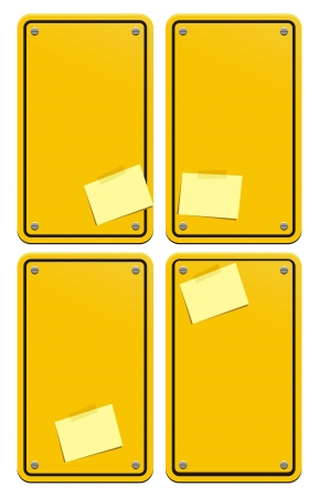 yellow web boxes Stock Vector - 21599383
