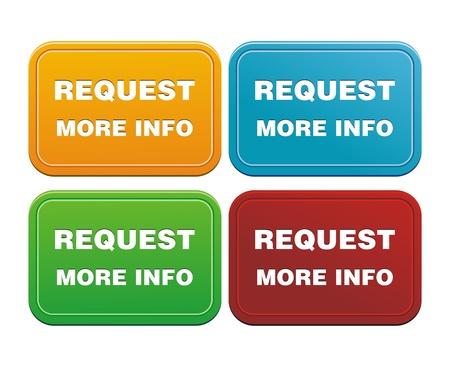 request more info button Vector Illustration