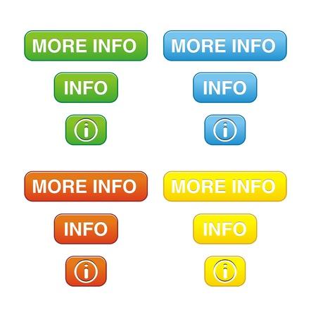 rectángulo: colorido bot�n m�s info establece Vectores