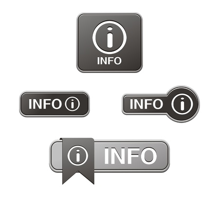 black info buttons Vector