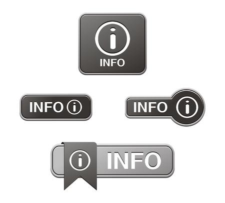 black info buttons Stock Vector - 21698117