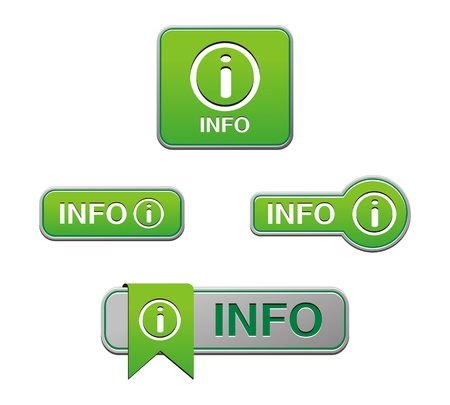 green info buttons Stock Vector - 21698108