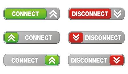disconnect: connect disconnect button sets