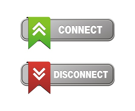 disconnect: disconnect connect buttons