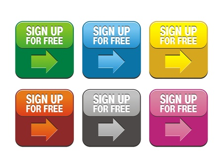 sign up for free buttons Vector