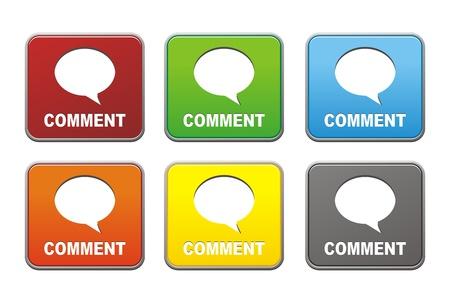 komentář: čtverečních komentář Tlačítka
