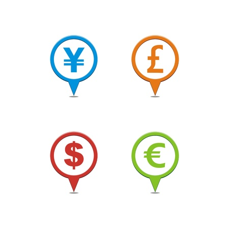 eur: currency map pointers