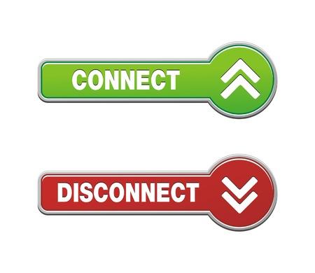 disconnect: disconnect connect button sets Illustration