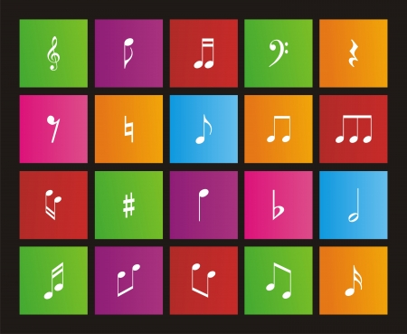 windows 8: music note - metro style icon sets
