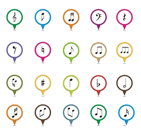 crotchets: set of music note pointer