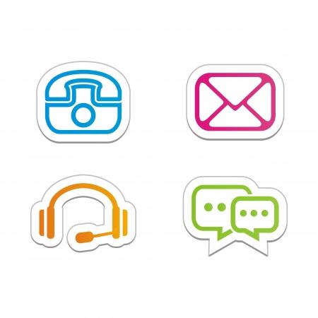 contact symbols - stickers