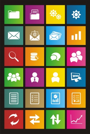 chat window: back office metro style icon sets